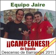 Campeones de España de Descenso de Barrancos 2011